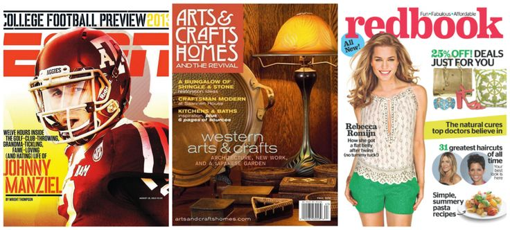 Magazine Deals 9/16 ESPN, Arts & Crafts Home and Redbook Magazine up to 95% Off – TODAY ONLY!