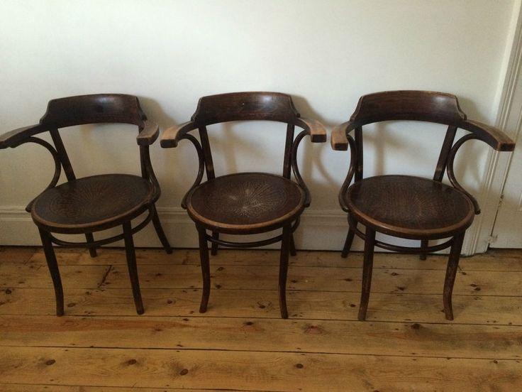 Vintage Thonet Kohn Mundus Maxwood Bentwood Cafe Kitchen Dining Arm Chairs  x 3 - 8 Best Mundus Thonet Chairs Images On Pinterest Art Decor