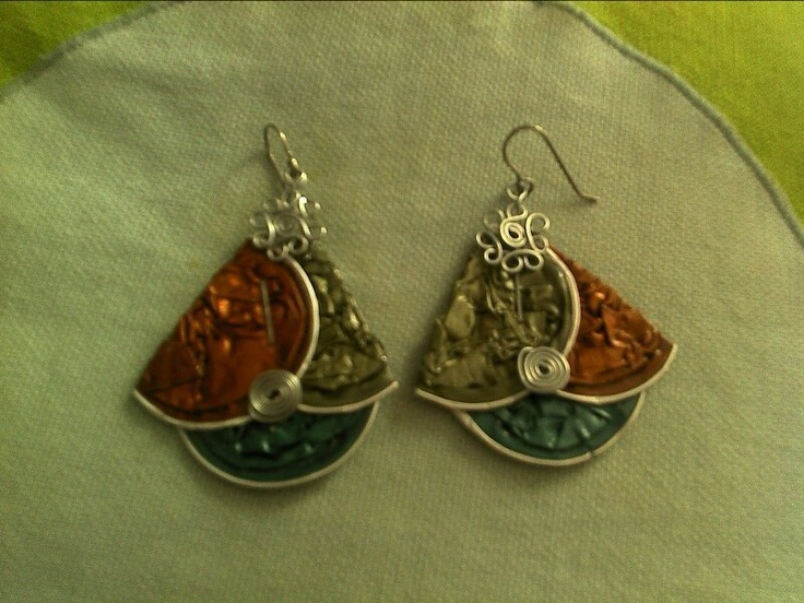 Recycled caffe caps earrings