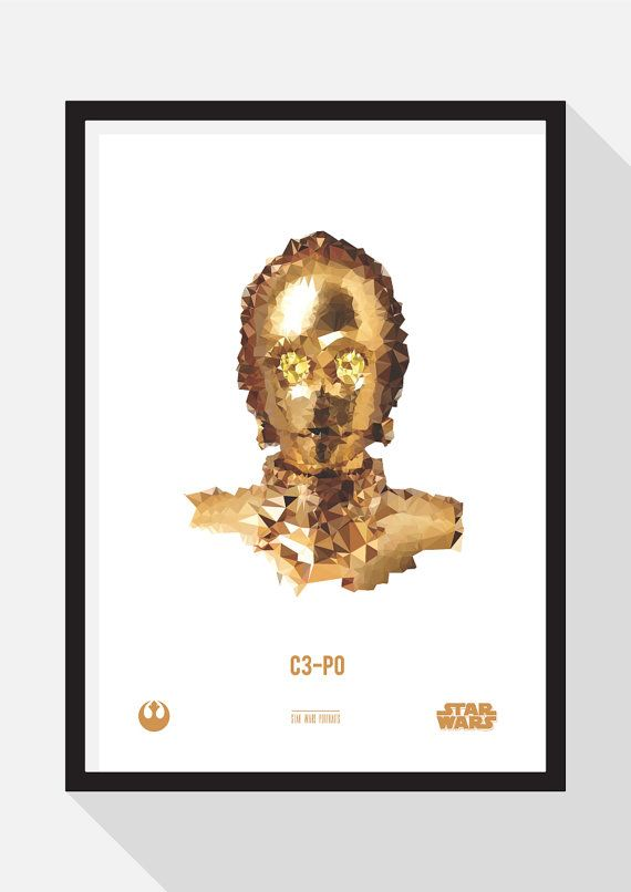 C3-P0 Portrait by TheDesignCollection on Etsy