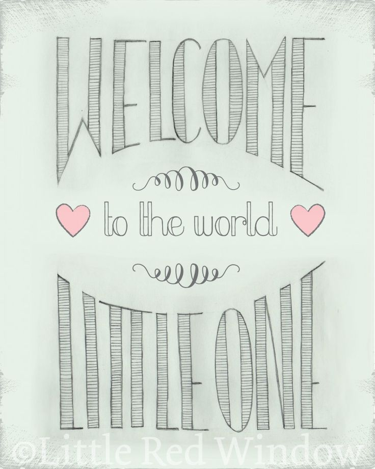 Welcome to the World Printable by Little Red Window Design