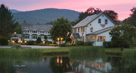 Hawk Inn and Mountain Resort is a beautiful place to stay, along Scenic Route 100 in Plymouth, Vermont.