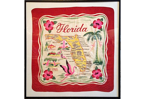 Framed Red Florida Scarf on OneKingsLane.com
