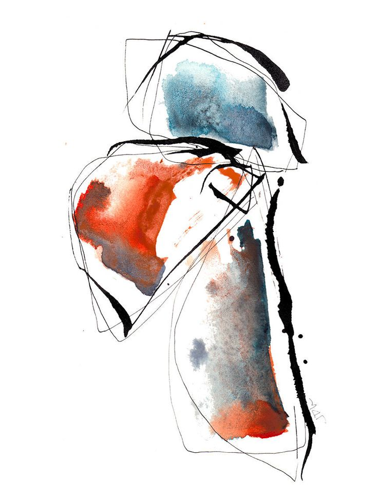 Abstract Art Abstract Painting Watercolor Abstract Print