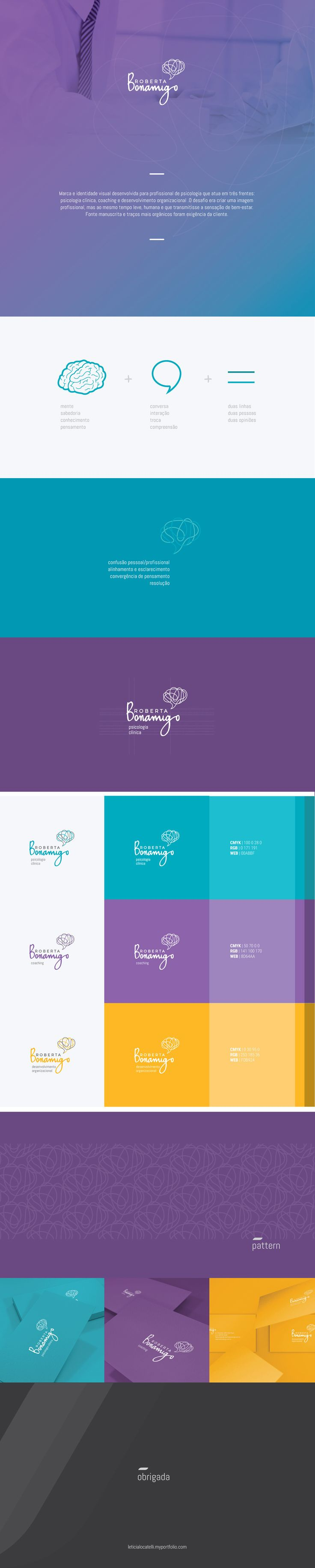 branding Roberta Bonamigo • Psicóloga Coaching on Behance