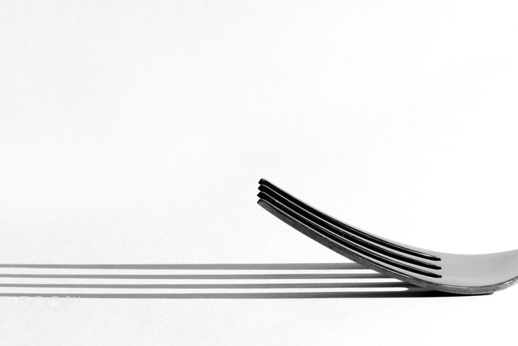 Fork shadows - sometimes also an object of common use as a fork can become attractive.
