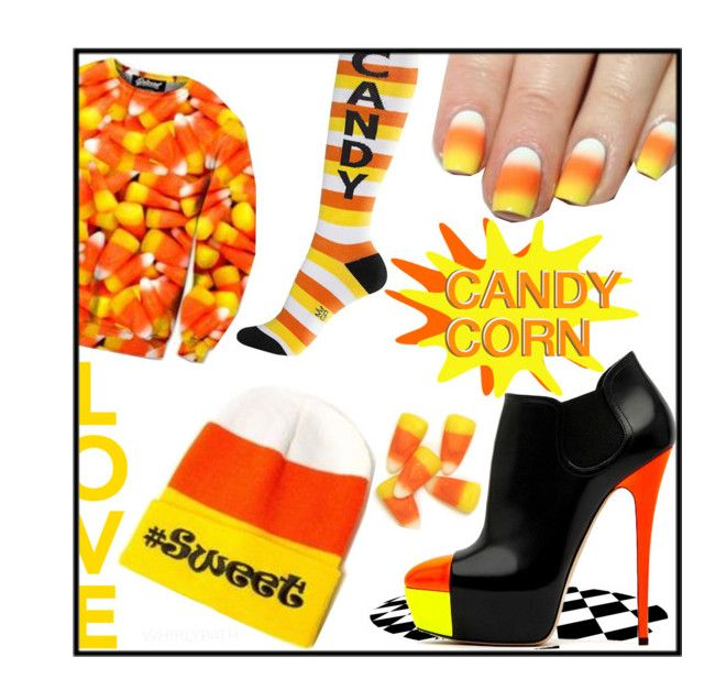Candy Corn! by whirlypath on Polyvore featuring Casadei