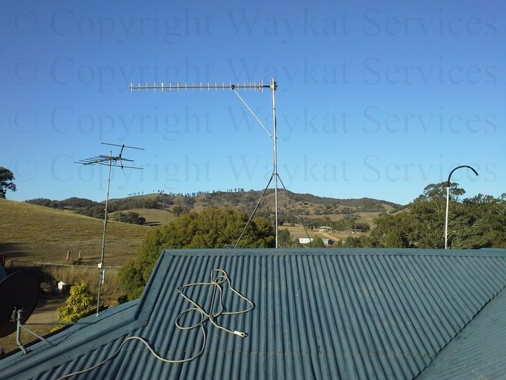 Another close up view of the The finished view of our Telstra Next-G RFI 16dBi Yagi Antenna - Fully Welded Aluminium pointed 338 Deg true north connecting to a remote Telstra NextG base station located some 40Km's away on the other side of some very high hills and behind a large amount of terrain
