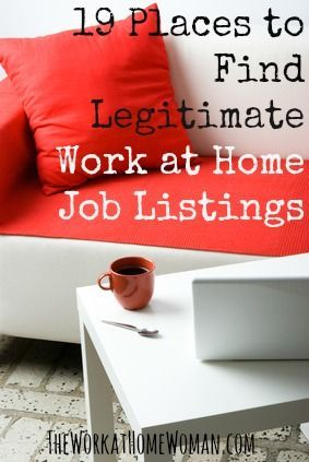 There are many paths to the work at home lifestyle — from joining a direct sales company, to telecommuting for a large corporation or even starting your own business. However — the biggest challenge for most women is finding legitimate work at home jobs postings. To help you with the most difficult part of your job search, here are 19 reputable resources where you can find legitimate work at home job postings. via The Work at Home Woman http://chillout.avenue.eu.com/chillout-strategy make…