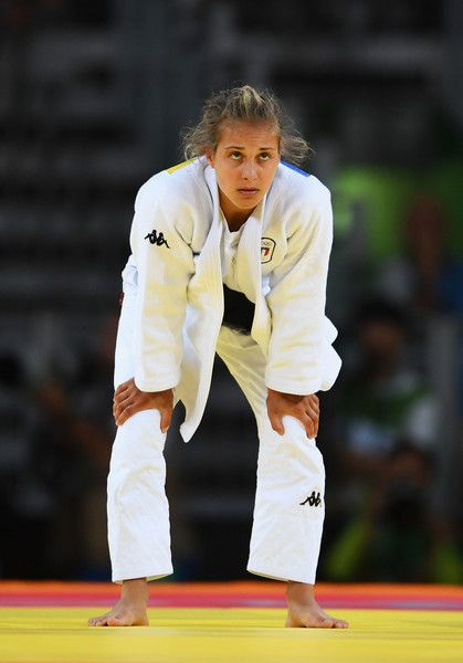 Odette Giuffrida Photos - Odette Giuffrida of Italy looks on as he wins the silver after defeat by Majlinda Kelmendi of Kosovo after the Women's -52kg gold medal final on Day 2 of the Rio 2016 Olympic Games at Carioca Arena 2 on August 7, 2016 in Rio de Janeiro, Brazil. - Judo - Olympics: Day 2