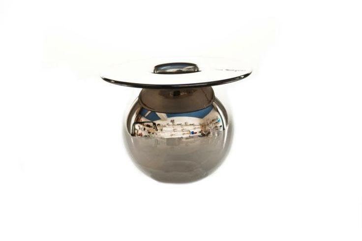 Magnor Glassverk   Vase glam silver