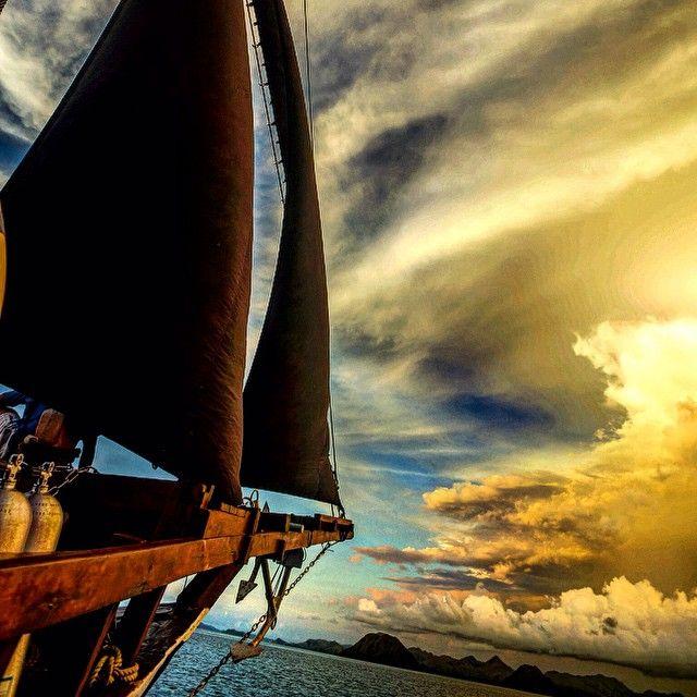 Sail away with us into the sunset on the Ikan Biru.