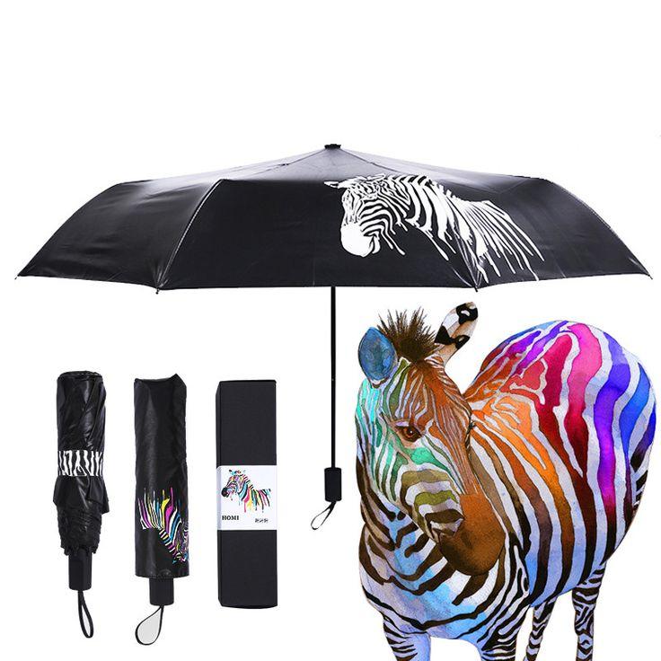 Зонт меняющий цвет при намокании.   Ну точнее цвет меняет изображение зебры и она становиться разноцветной, после высыхания, цвет зебры становися черно-белый.    #зонт #цвет #дождь #лето #цветменяется #прикольно #подарок #весело #хбхру #хбх #hbhru #hbh   Подарок  купить на ХБХ.РУ