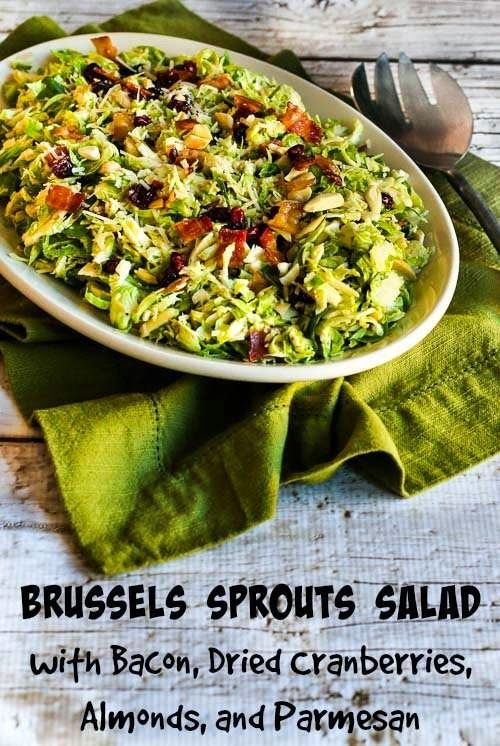 Brussels Sprouts Salad with Bacon, Dried Cranberries, Almonds, and ...