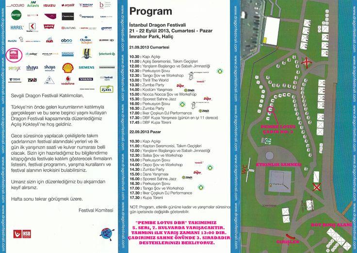 """21-22 Eylül' de Haliç İmrahor Park' ta gerçekleşecek olan """"Dragon Festivali"""" kapsamında yarışacak olan dragon boat kürek takımımızın kulvar ve çadır sıralaması bu akşam kura ile belli oldu.  Takımımızı desteklemek isteyen herkesi Cumartesi günü 3 No' lu çadırımız ile 5. Seri, 7. Kulvarda gerçekleşecek ilk zaman yarışımız ve sonraki yarışlarımıza bekliyoruz.  Ücretsiz giriş bilekliklerinizi festival giriş kapısından çadırımızı belirtip bizlerden aldırtabilirsiniz."""
