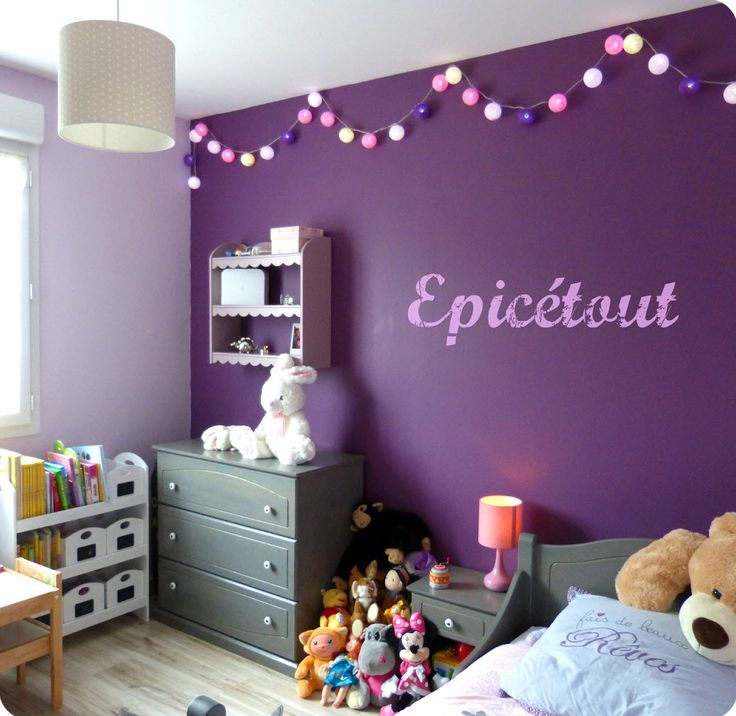 les 25 meilleures id es de la cat gorie chambre de fille mauve sur pinterest th mes b b fille. Black Bedroom Furniture Sets. Home Design Ideas
