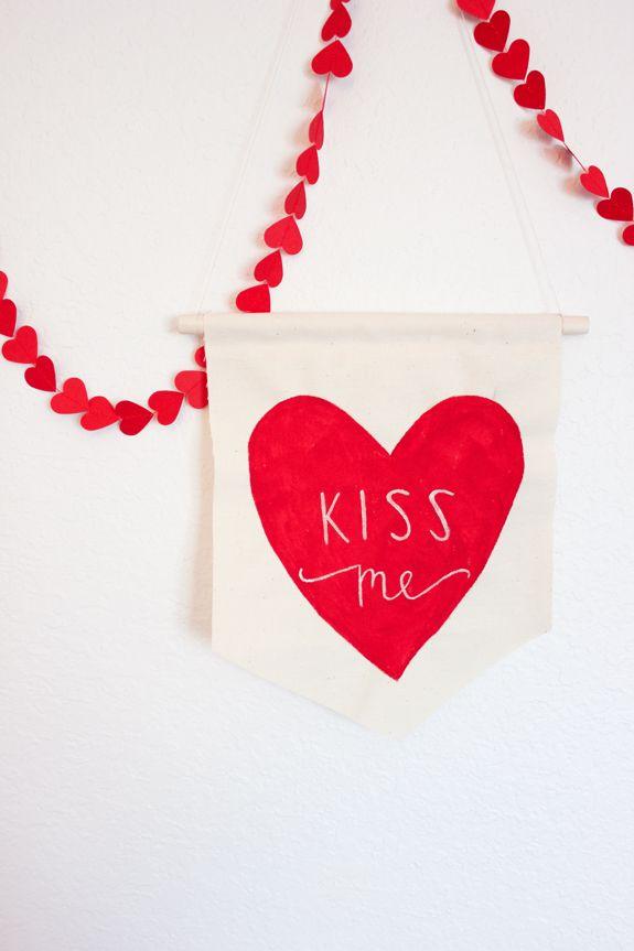 fabric hanging valentine