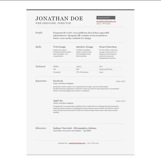 We Have Selected 15 Free Creative Resume Templates To Show Your  Qualification, Experience, Talent And Personal Information In A  Professional Way.