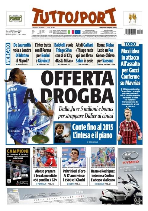 Drogba to Juventus?  That would be nice.