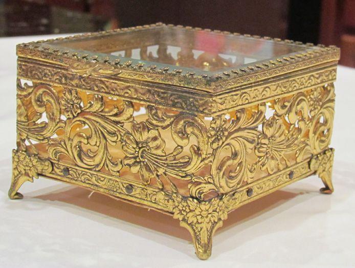 Antique Trinket Jewel Box