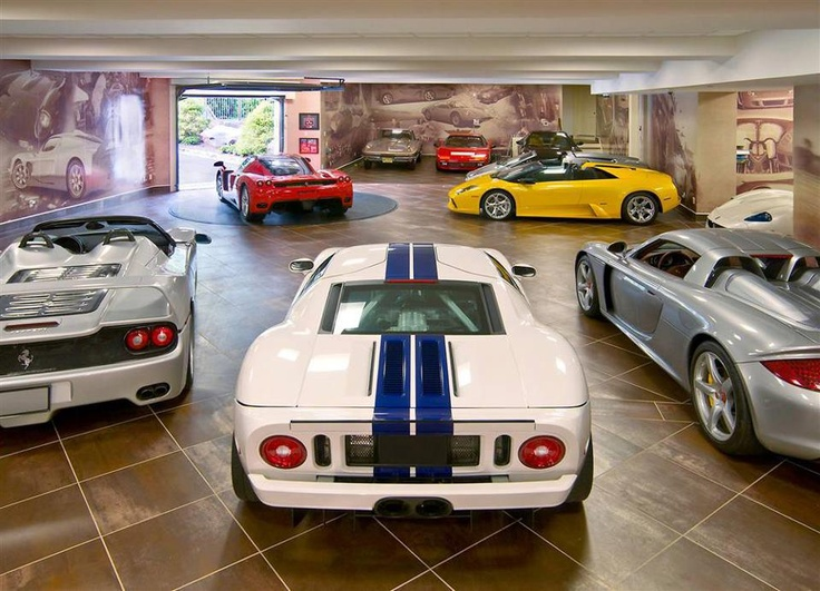 Epic stable of cars, garage