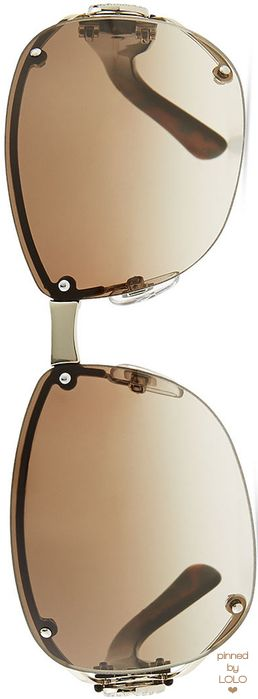 Gucci Oval Gradient Sunglasses with Open GG Temple | LOLO❤