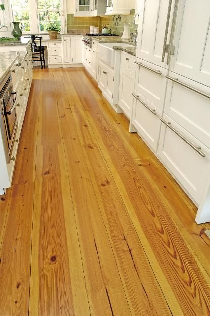 Because your kitchen deserves…our Heart Pine floors.