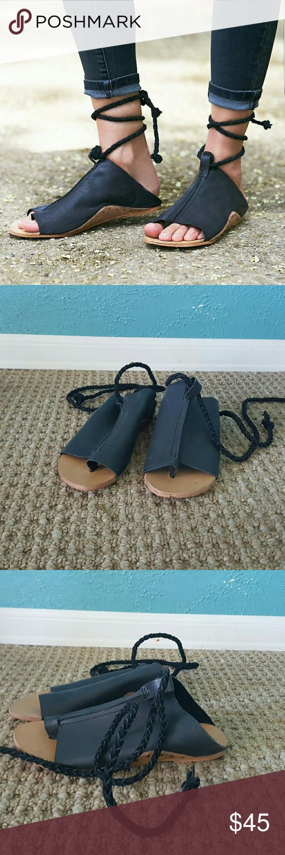 Free People Cherry Valley Sandals Brand New in Box Brand new, unworn Free People Cherry Valley sandals. Super cute ankle wrap. Size 37 and probably run a bit small compared to a normal FP 37. Free People Shoes Sandals
