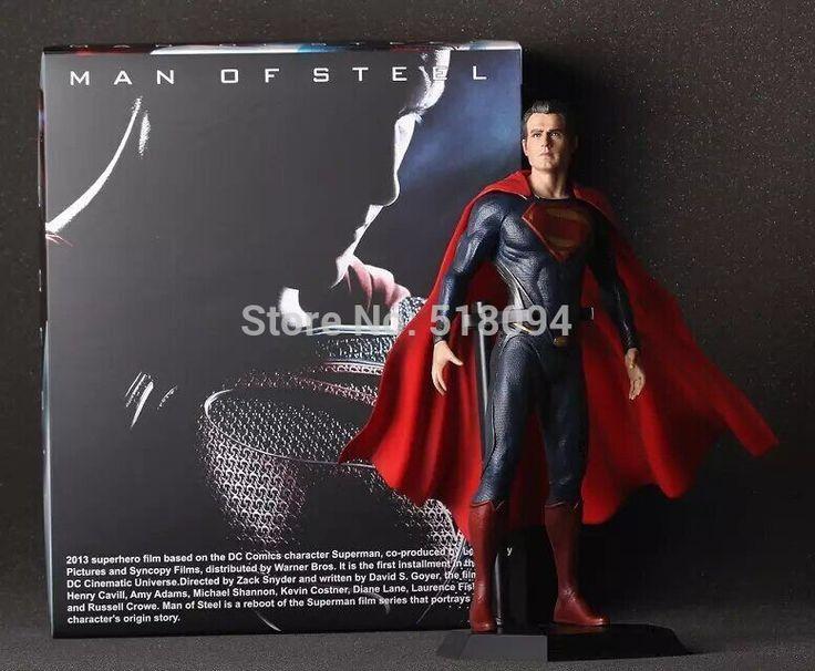 Сумасшедший игрушки супермен человек из стали PVC коллекционная модель игрушки 12  30 см бесплатная доставка HRFG278