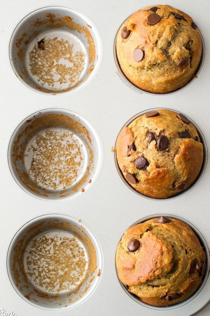simple vegan choc chip muffins (use gf flour)