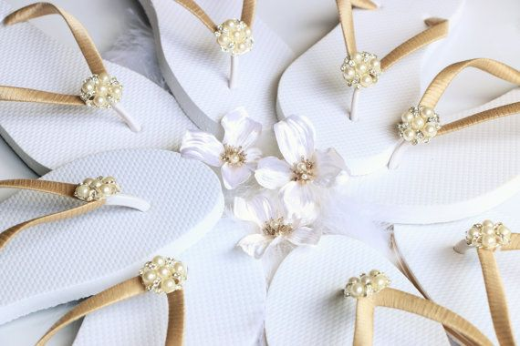 BRIDESMAID Flip FlopsBRIDAL Flip Flops by Glamtouchboutique