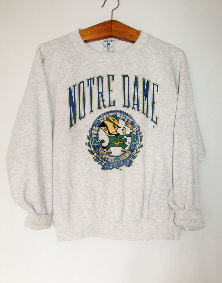 Vintage Notre Dame Fighting Irish Sweatshirt by FreshtoDeathVintage on Etsy