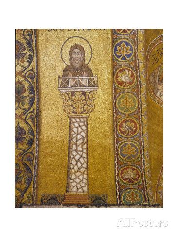 A Mosaic in the Basilica of San Marco Depicting St Simeon Stylites on His Column Giclee Print