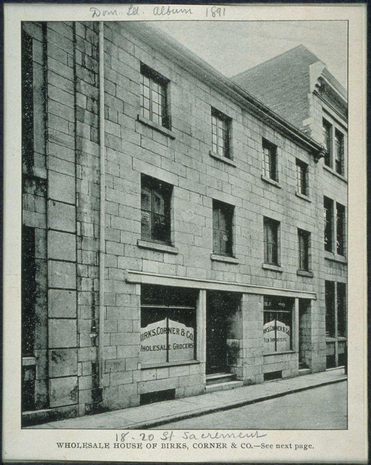 Birks, Corner & Co, 1891.