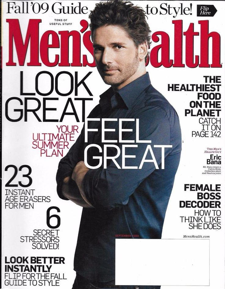 Men's Health magazine Eric Bana Ultimate summer plan Fall style guide Best food