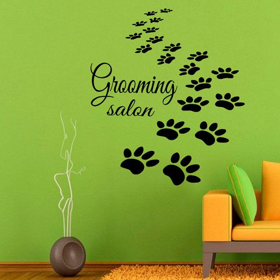 Paw Prints Wall Decals Grooming Salon Dog by WallDecalswithLove