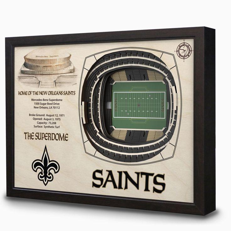 New Orleans Saints Mercedes-Benz Superdome 3D View Wall Art