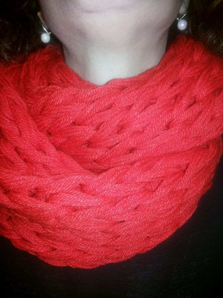 Womens infinity scarf Winter scarf red by Mmancrafts on Etsy