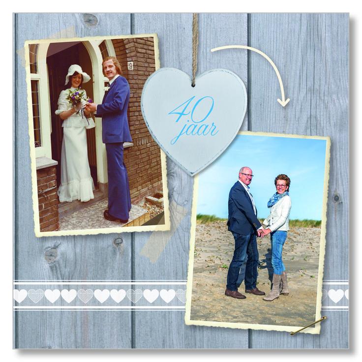 40 jaar getrouwd - uitnodiging Suede design ©