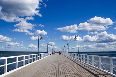 Well-known in Poland pier in Orlowo - a district in Gdynia