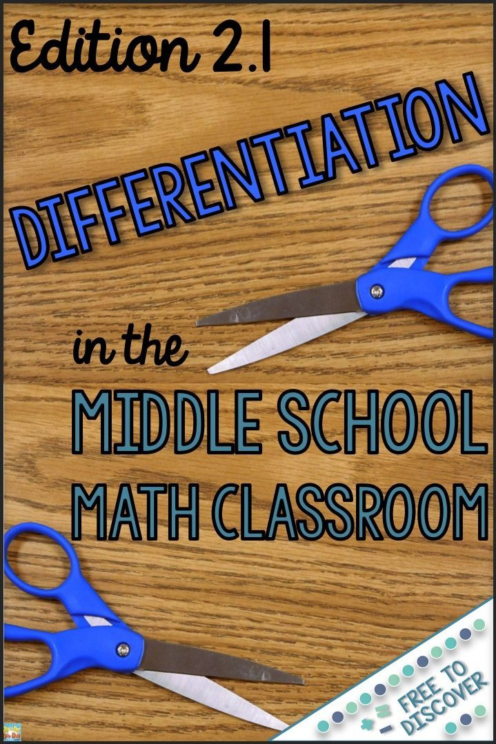 The series continues with tips for differentiating note taking in the middle school math classroom. Follow the links to get caught up on Edition 1. Strategies and resources are discussed so that you can meet the needs of all of your middle school math students this school year. By Free to Discover.