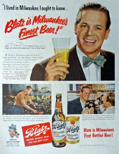 blatz beer print ad 50s full page color illustration http - Full Page Color