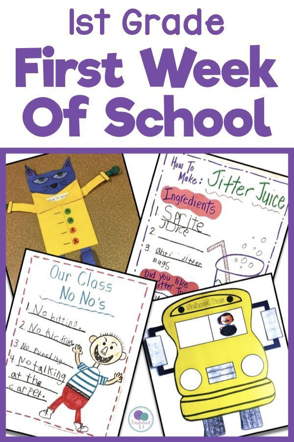 Back To School Do You Need First Week Of School Activities For Your Kindergarten Or Firs First Day Of School Activities School Activities 1st Grade Activities