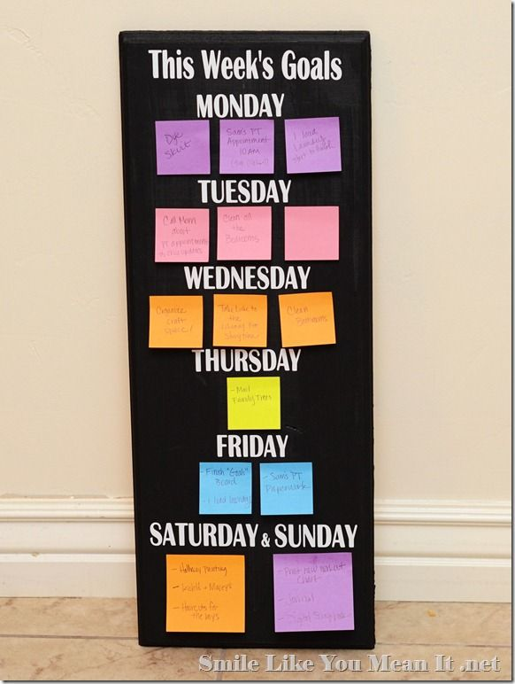 Daily goals: Ideas, Painted Projects, Goals Board, Daily Goals, Chalk Board, Chalkboard, Weekly Goal, 20 Painted