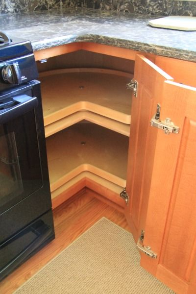Base cabinet carousel. Kitchen remodel by McClurg.