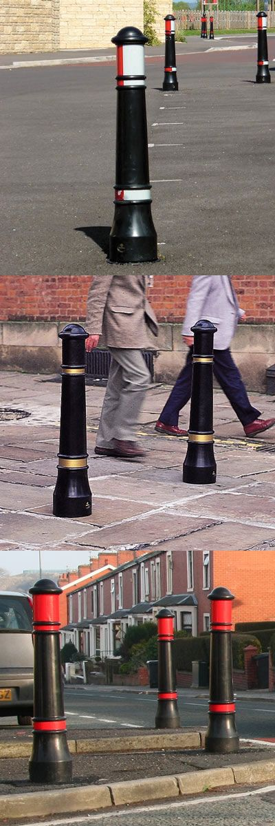 Victory™ Bollard - This traditional bollard with rebound or rigid material options offers a passively safe alternative to cast iron and performs to BE EN 12767 standard, not adding any danger to the vehicle occupants if collided with. #GlasdonUK #PassivelySafe #Bollard #RoadSafety #Heritage  #HighwaysSafety