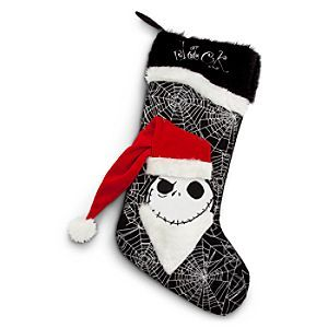 Disney Jack Skellington Stocking | Disney StoreJack Skellington Stocking - Our frightfully furry and fun Santa Jack Skellington Stocking will hang around to haunt your home for the holidays! Nice or naughty, it's big and gaudy to fill with gobs of ghoulish goodies!