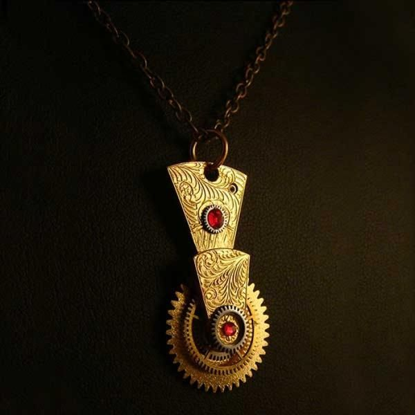 Made of hand-engraved antique watch parts - cooliyo.com