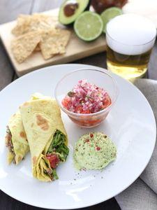 野菜たっぷりホットなメキシカンプレート