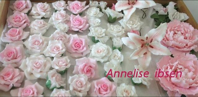 Pink fondant rose